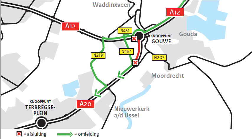 Verkeershinder A20 Gouda – Rotterdam