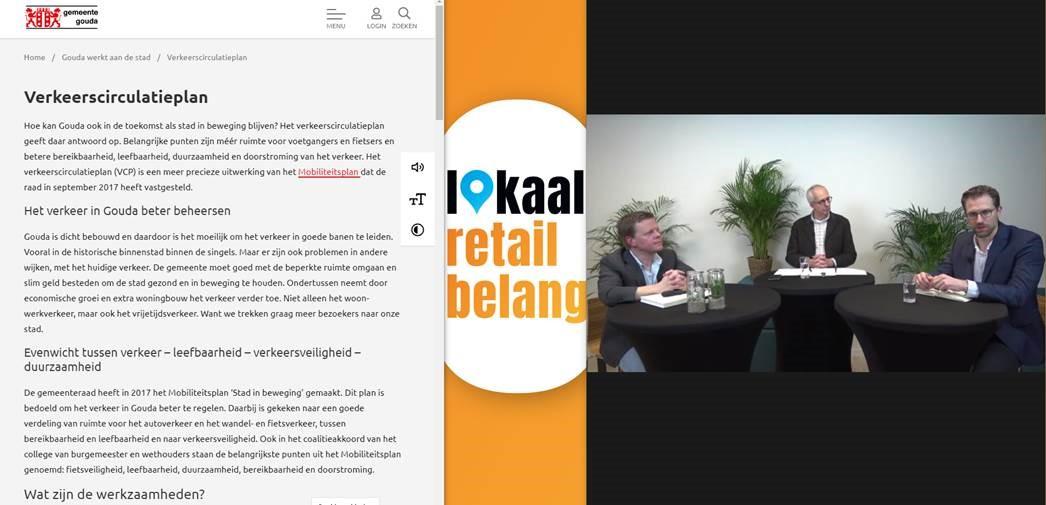 Lokaal Retailbelang roept gemeente Gouda op om Verkeerscirculatieplan &  Ambitie Gouda Winkelstad te integreren