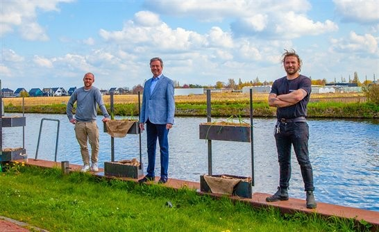 Meer leven in Zuid-Hollands vaarwater dankzij innovatieve plantenbak